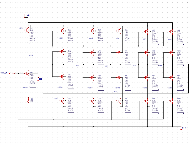 current starved vco schematic