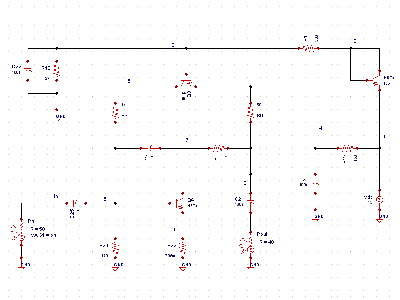 Lna Schematic Rf Simulation