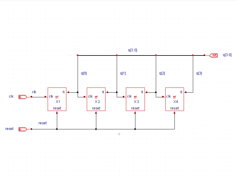 Ripple Carry Counter Schematic Simulation