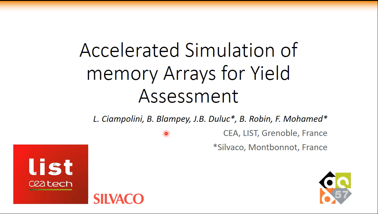 Accelerated Simulation Memory Arrays for Yield Assessment